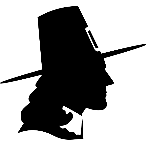 Puritan silhouette vector image