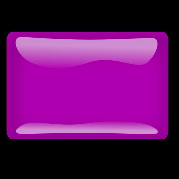 Gloss purple square button vector clip art