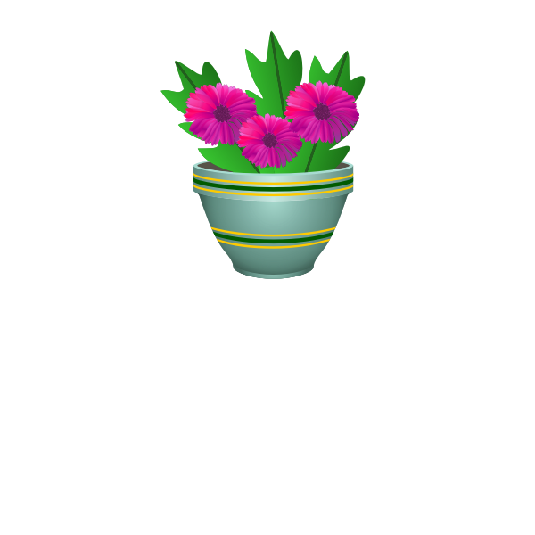 Purple flower pot