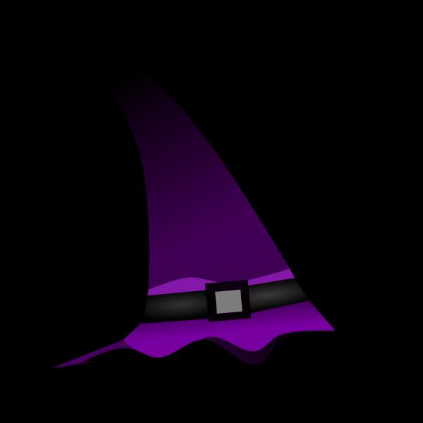 Purple witch hat vector clip art