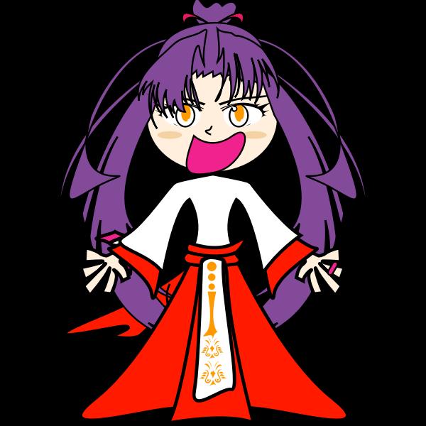 Purple evil girl vector image
