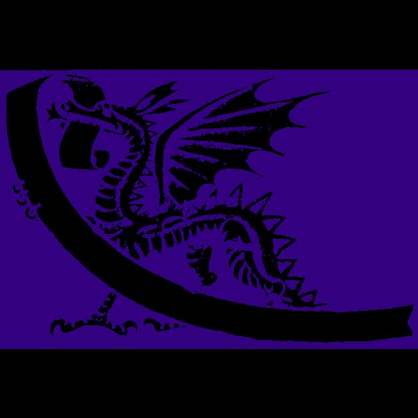 Vector image of purple dragon