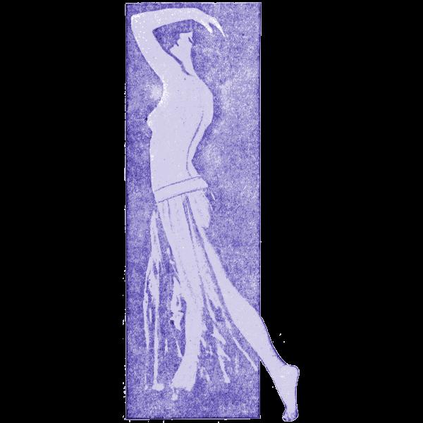 Purple lady standing