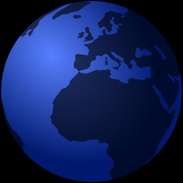 Earth globe at night vector image