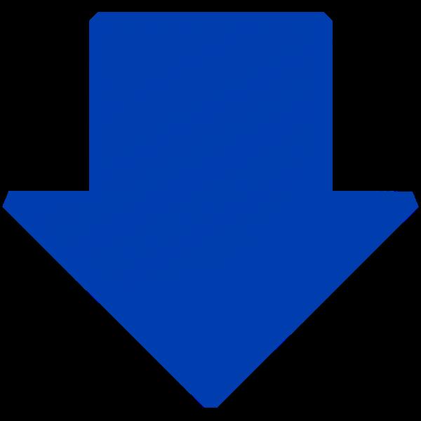Blue arrow down vector image