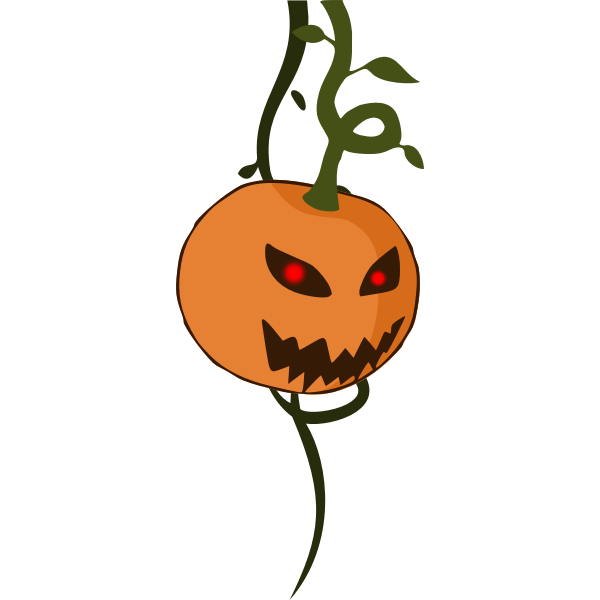 Vector illustration of hanging pumpkin