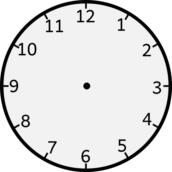 Vector graphics of wall clock with numbers