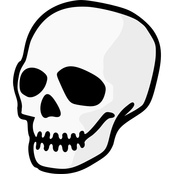 Scary skull with zipped mouth vector image
