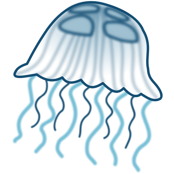 Color jellyfish vector drawing
