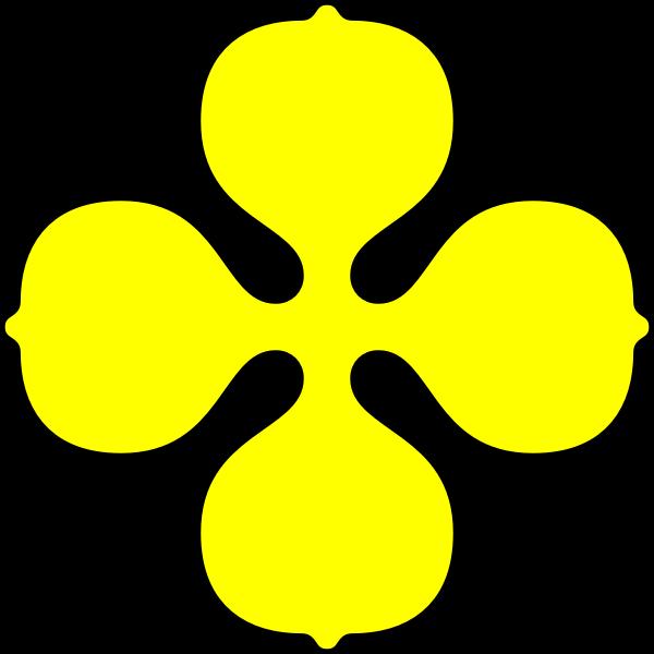 Image of yellow quatrefoil shape