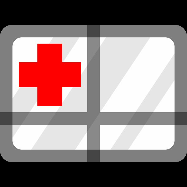 Ambulance window vector clip art