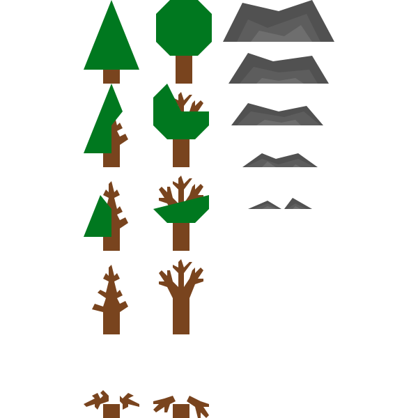 Natural resources icons