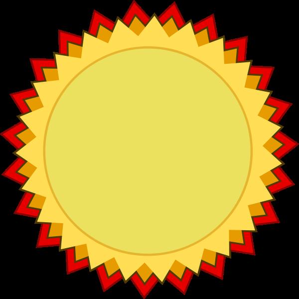 Blank award of achievement badge vector clip art