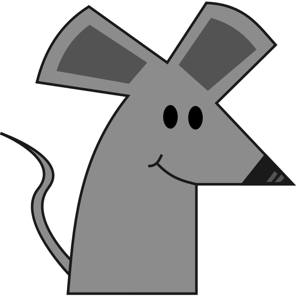 Cute smiling cartoon mouse vector image