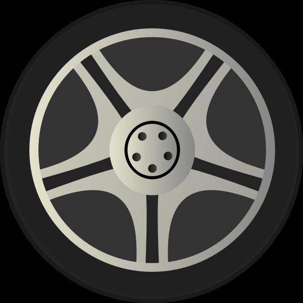 Car Wheel Tire Vector Image