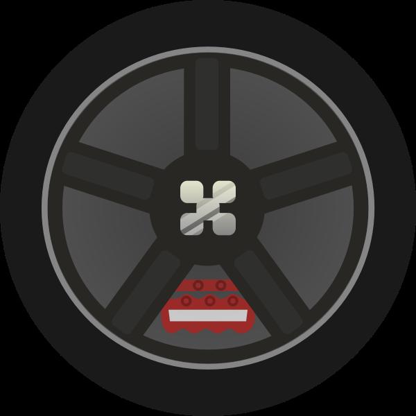 Car Wheel Tire Rims Vector