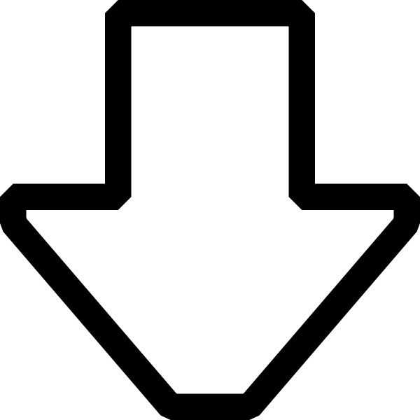 Arrow pointing down vector image