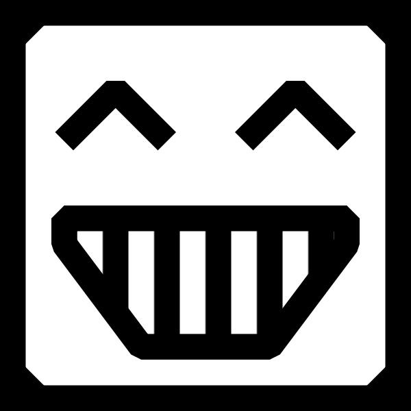 Happy user vector icon