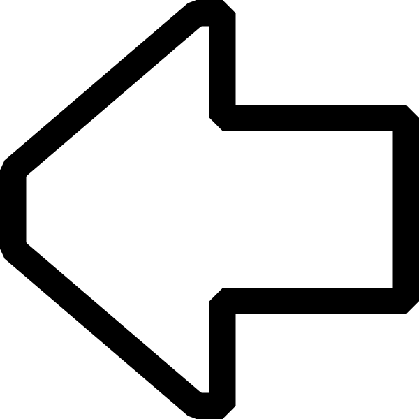 Arrow pointing left vector image