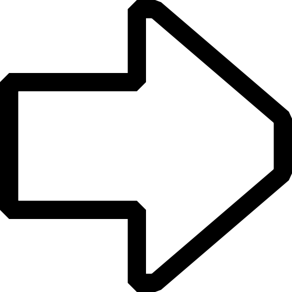 Arrow pointing right vector image