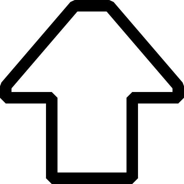Arrow pointing up vector image
