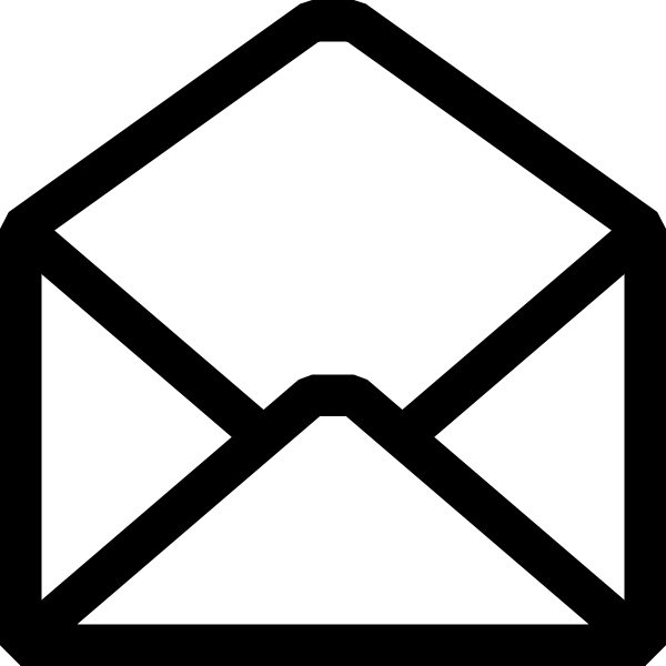 Open letter vector icon