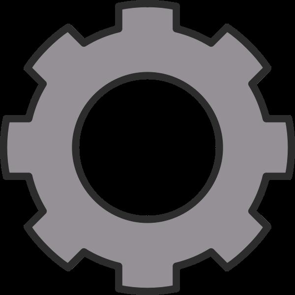 Vector drawing of cogwheel gear