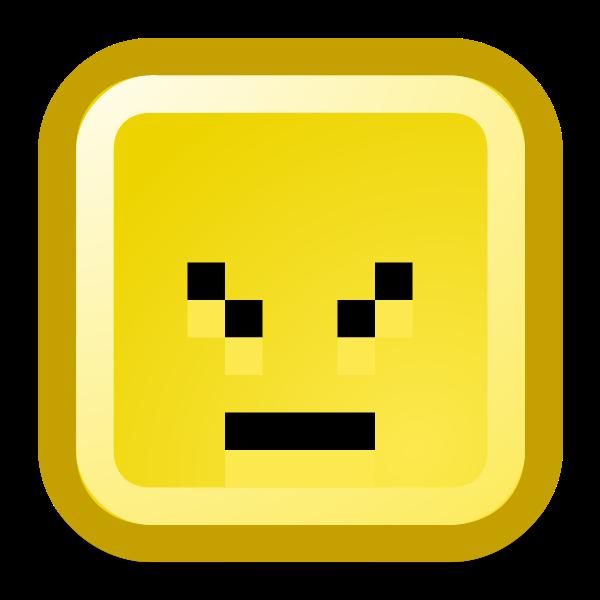 Confused smiley vector icon
