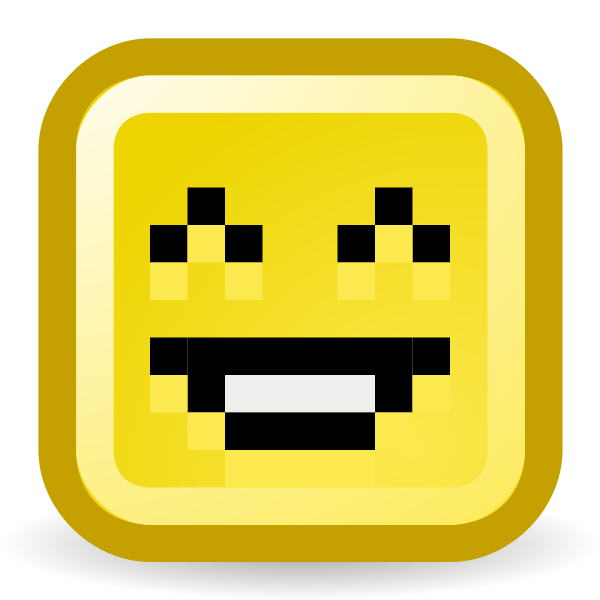 Laughing smiley vector icon