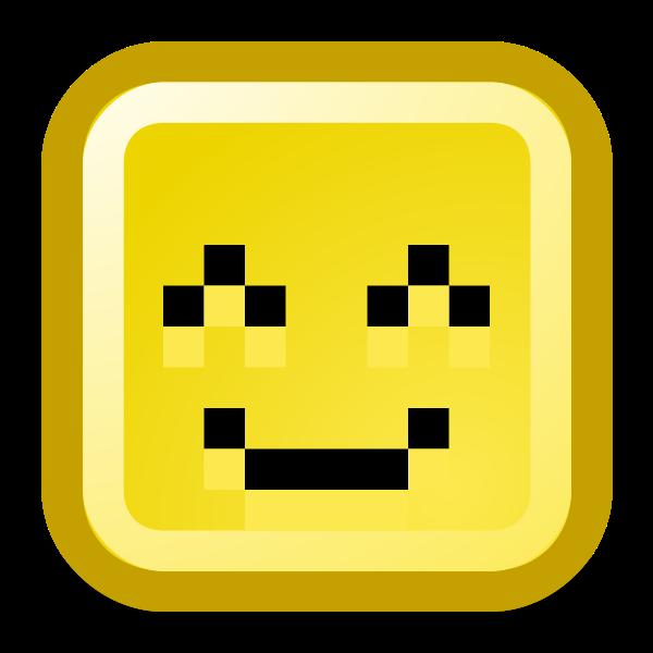 Happy smiley vector icon