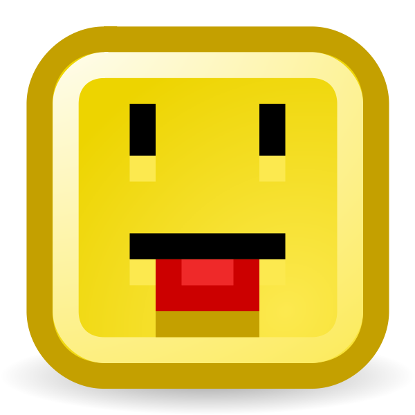 Tongue out smiley vector icon