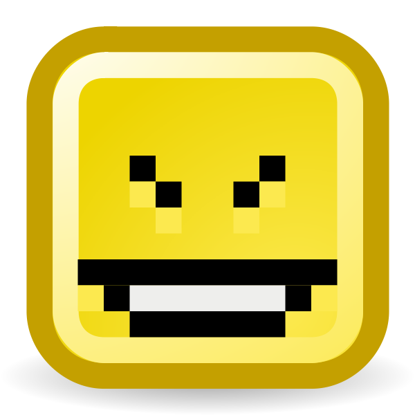 Cheeky smiley vector icon