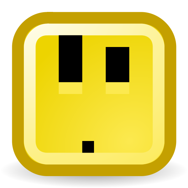 Ooo confused smiley vector icon