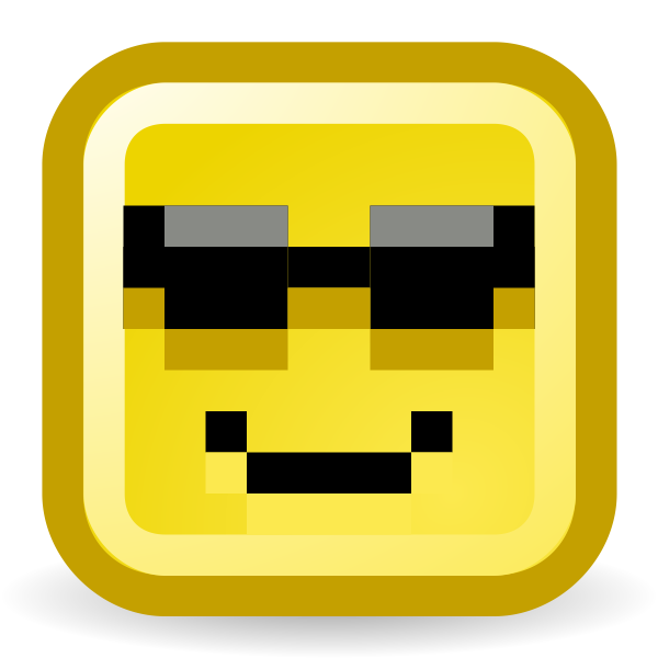 Sunglasses smiley vector icon