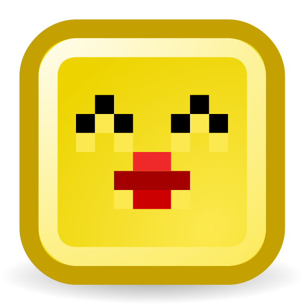 Kiss smiley vector icon