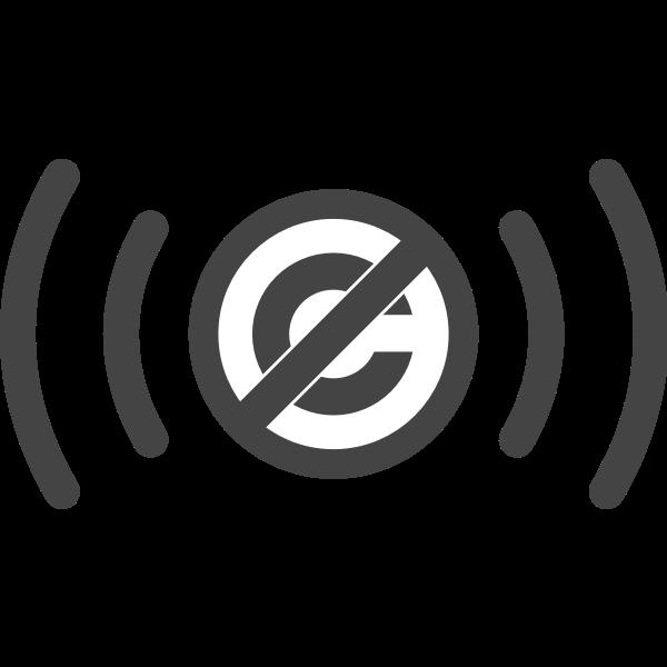 Public domain audio symbol vector image