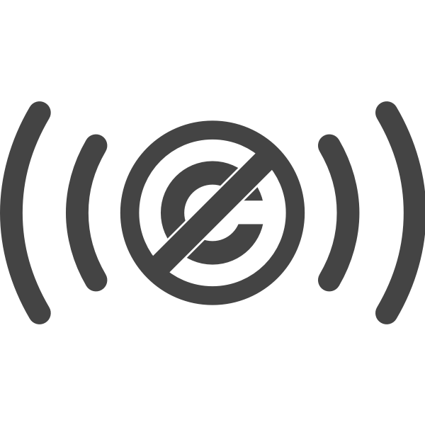 Public domain audio symbol vector image