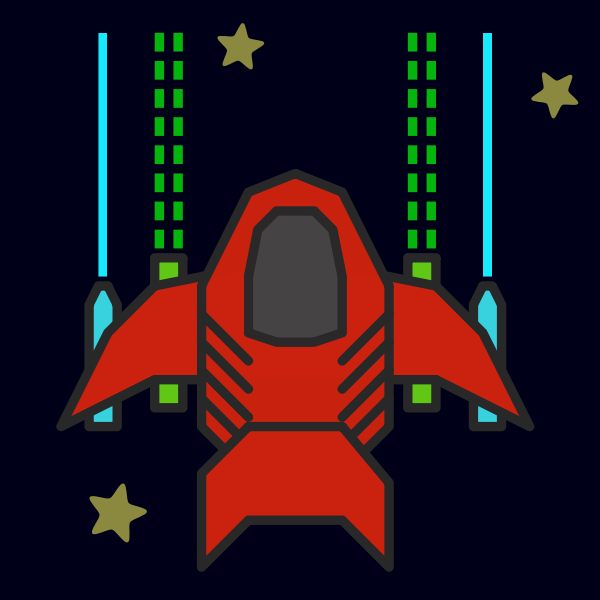 Spaceship vector graphics