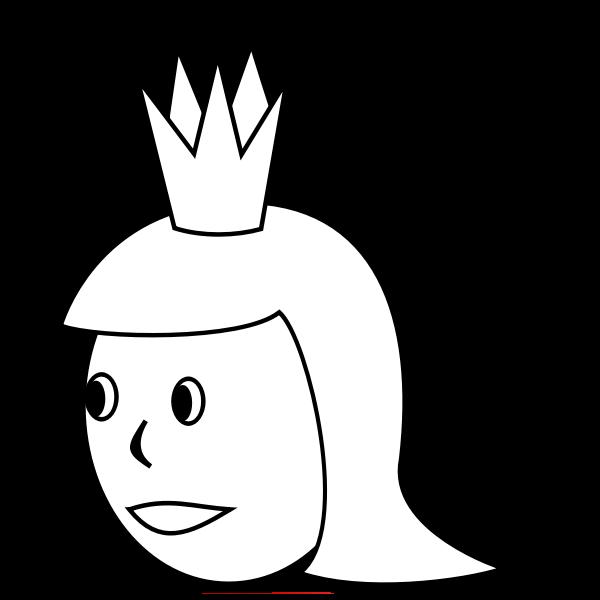 Queen's head vector drawing
