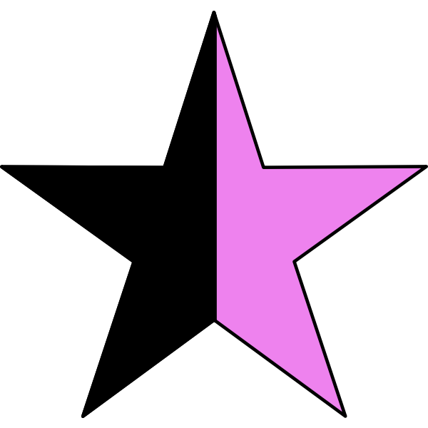 Vector graphics of queer anarchism sign