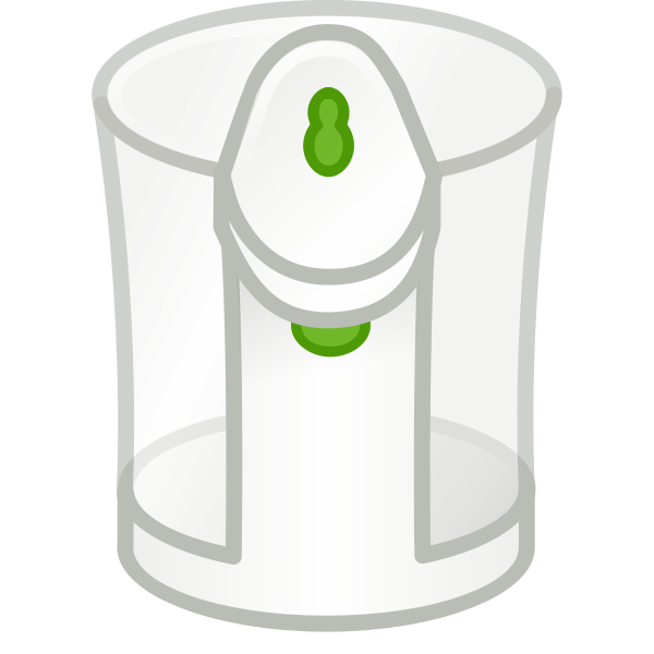 Vector clip art of transparent kettle
