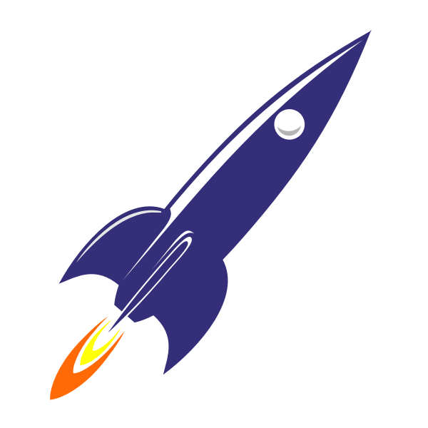 Retro 60s rocket at launch vector image