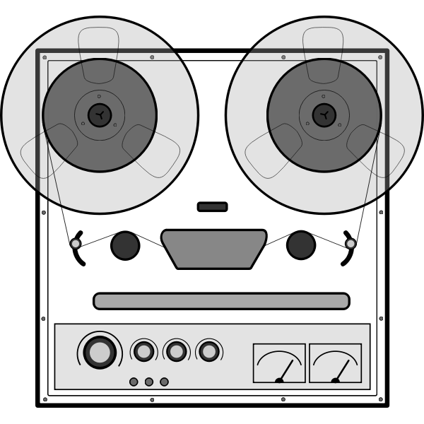 Tape recorder vector drawing