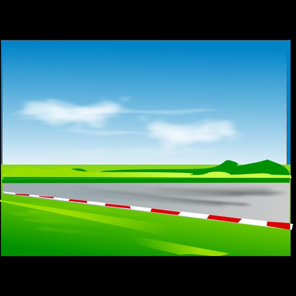 Vector illustration of racing road