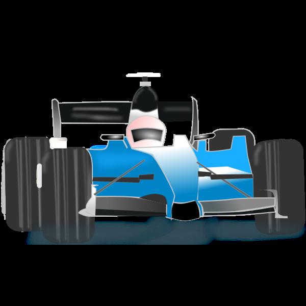 Vector clip art of blue bolide