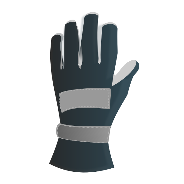 Leather racing glove vector image