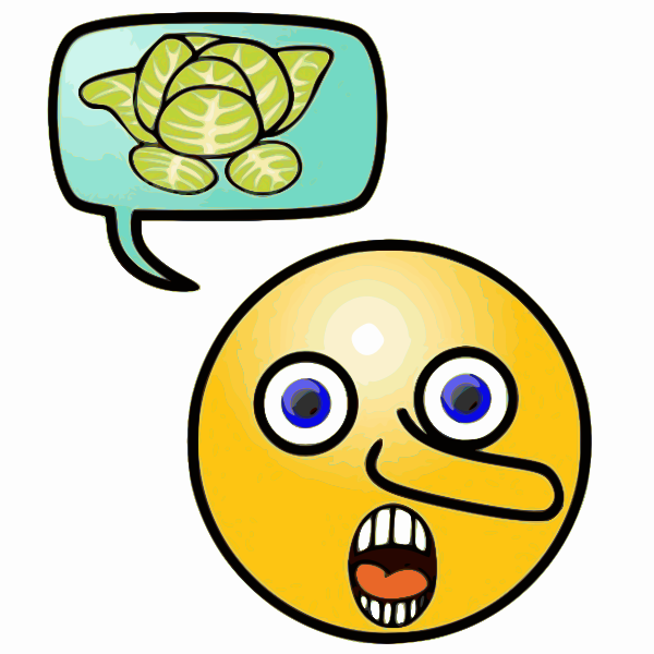 Illustration of liar telling stories emoticon