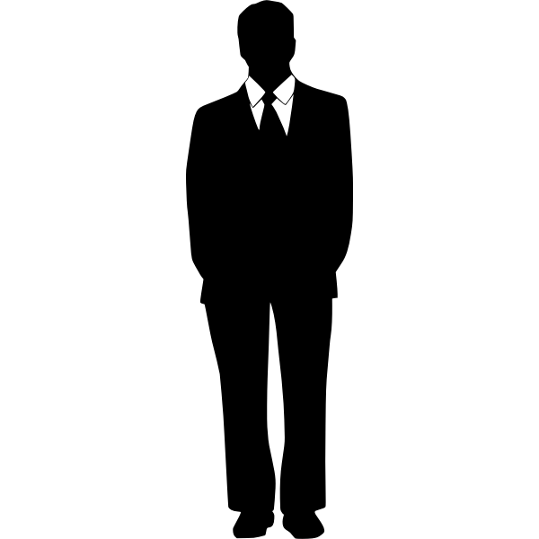 Businessman with shirt and tie silhouette vector illustration