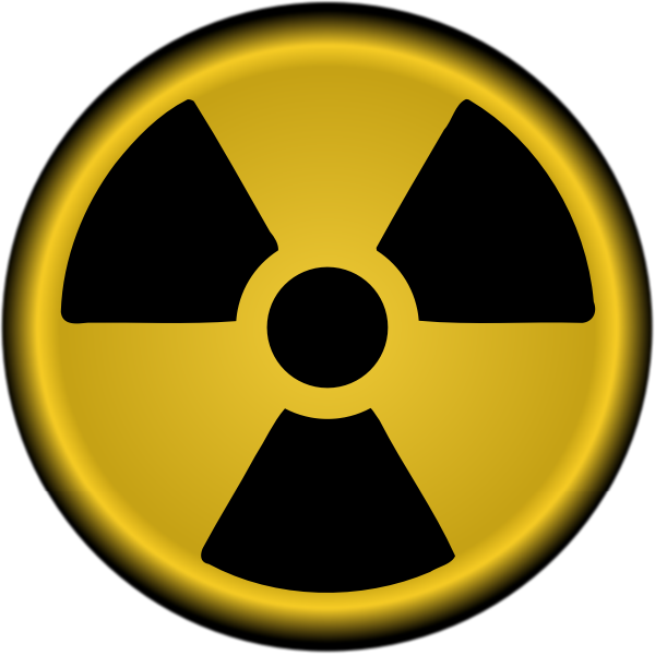 Vector clip art of nuclear radiation symbol