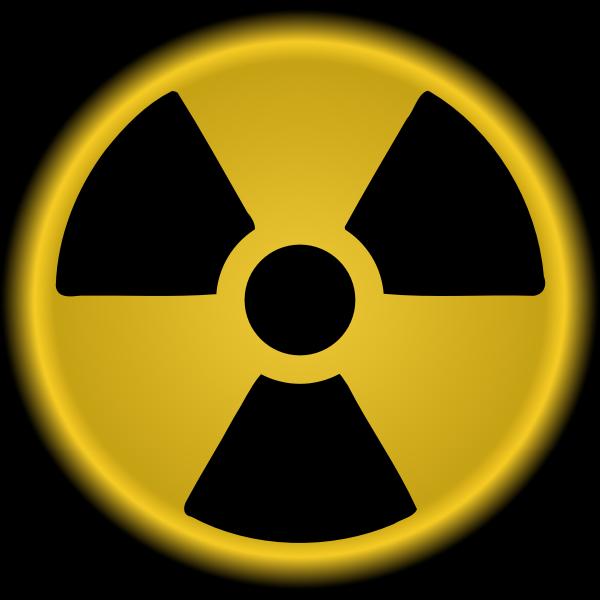 Vector clip art of nuclear radiation symbol